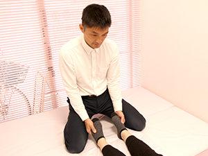 足の左右差の確認