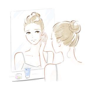 鏡に写る顔にうんざりする人