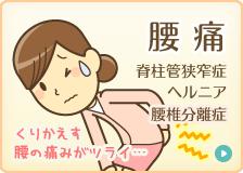 腰痛:脊柱管狭窄症・ヘルニア・腰椎分離症