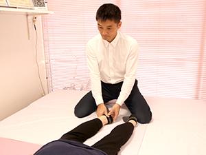 足の末端からか少しづつ調整し、患部へ遠隔でアプローチします